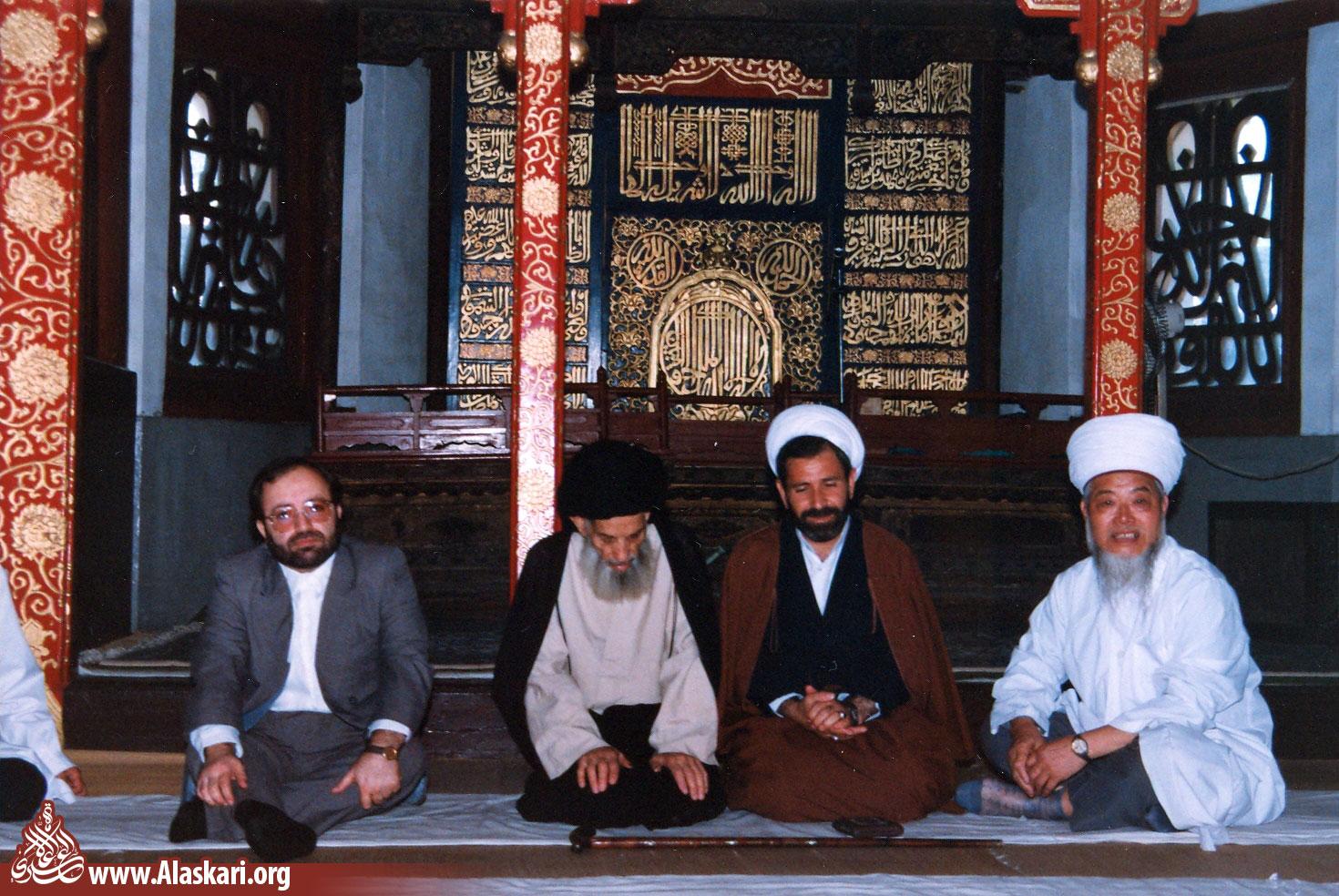 دیدار علامه عسکری با امام جماعت مسجد مسلمانان شهر پکن